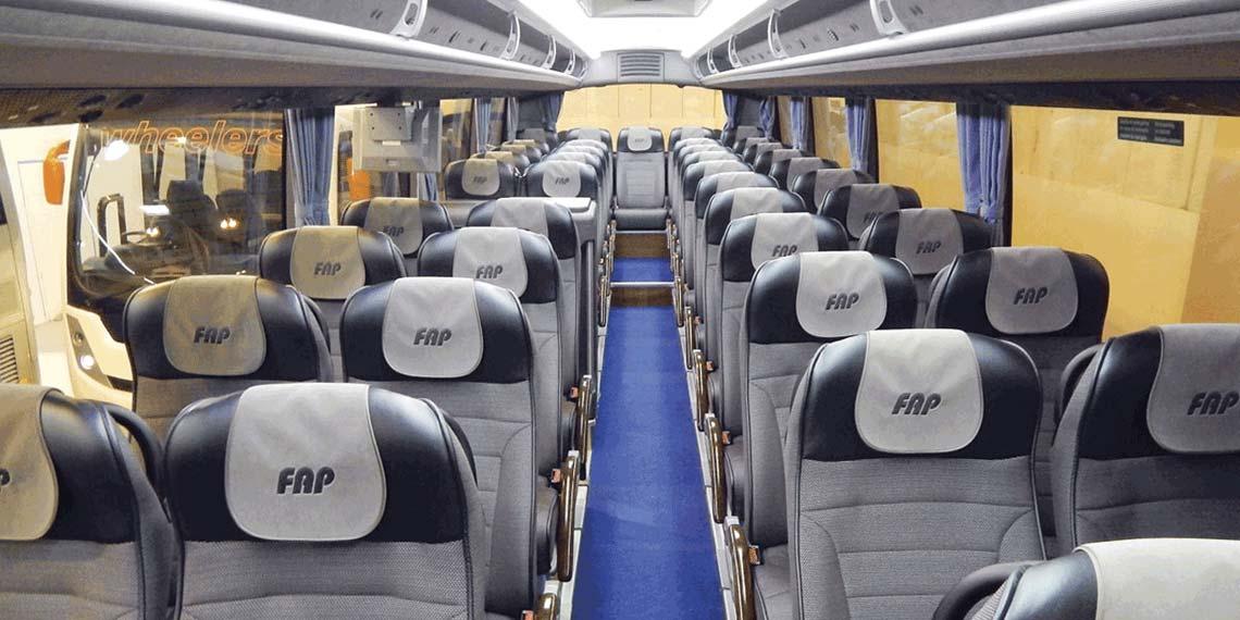 Интерьер туристического автобуса - аренда в СПб