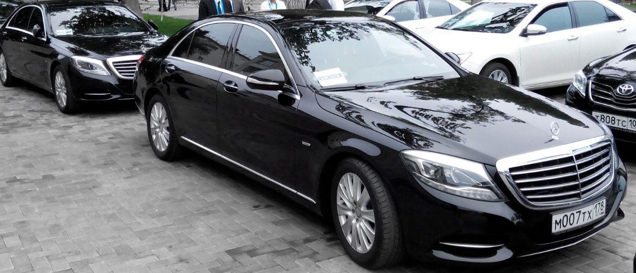 Аренда представительского автомобиля Mercedes s222, s221 в СПб