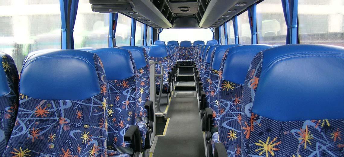 Экскурсионный автобус - аренда СПб - салон внутри