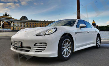 Porsche Panamera Ren A Car with driver in St Petersburg Russia