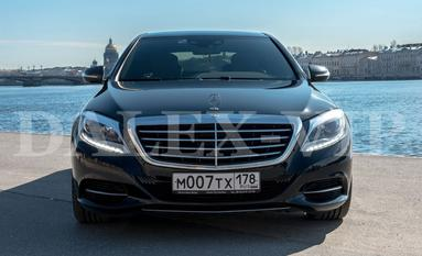 Mercedes S Class W222 Rent A Car with driver in St Petersburg Russia