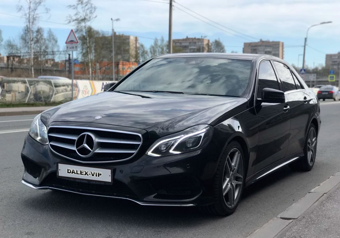Mercedes-Benz E-Class W212 Rent A Car with driver in St Petersburg