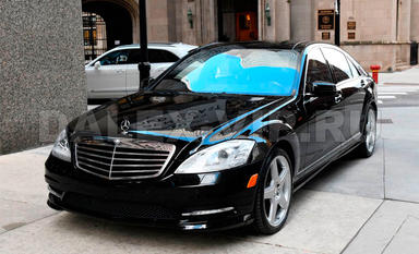 Mercedes S-Class W221 Rent A Car with driver in St Petersburg Russia
