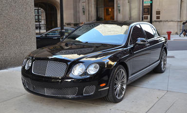 Bentley Continental Flying Spur Ren A Car with driver in St Petersburg