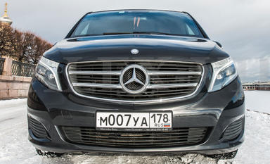 Mercedes V Class Van Rental with driver in St Petersburg Russia